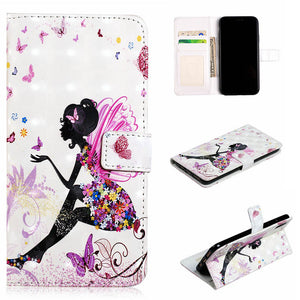 PU Leather Wallet Flip Mobile Phone Case For Huawei