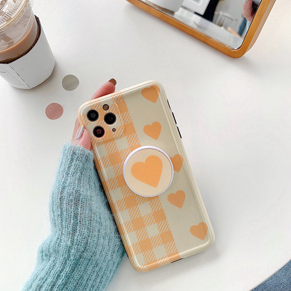 Flower /Heart  Soft IMD Phone Case for iPhone