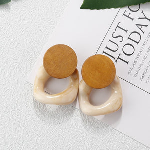 New Fashion Handmade Wooden Drop Earrings