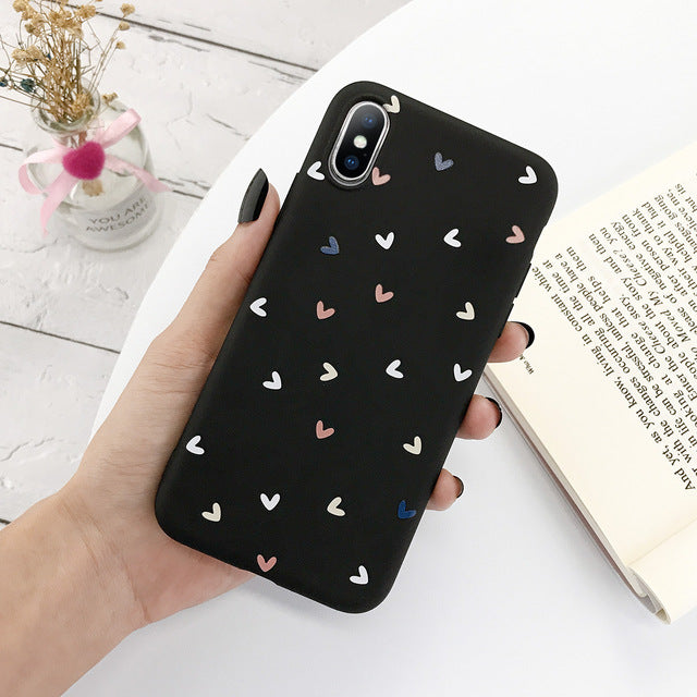 Heart Pattern Printed Mobile Phone case for iPhone
