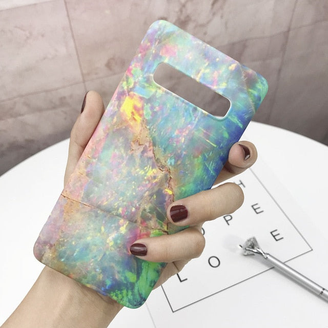 Ultra Slim Hard PC Marble  Mobile Phone Case For Samsung Galaxy