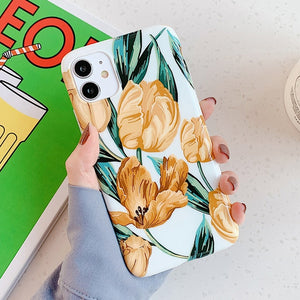 Soft IMD Cute Tulip flower  Cases For iPhone