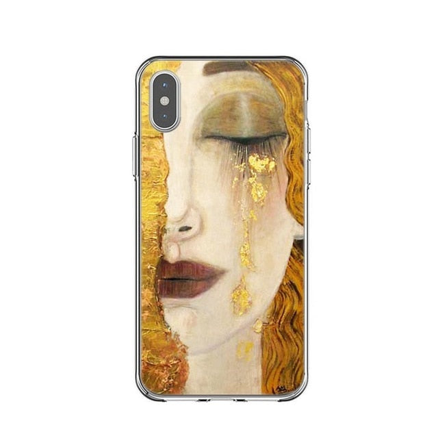 Soft Silicone Kiss by Gustav Klimt Design Mobile Phone Case