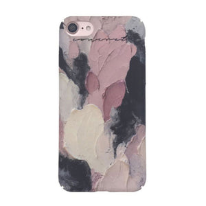 Colorful Oil Painting Matte Cover For iPhone