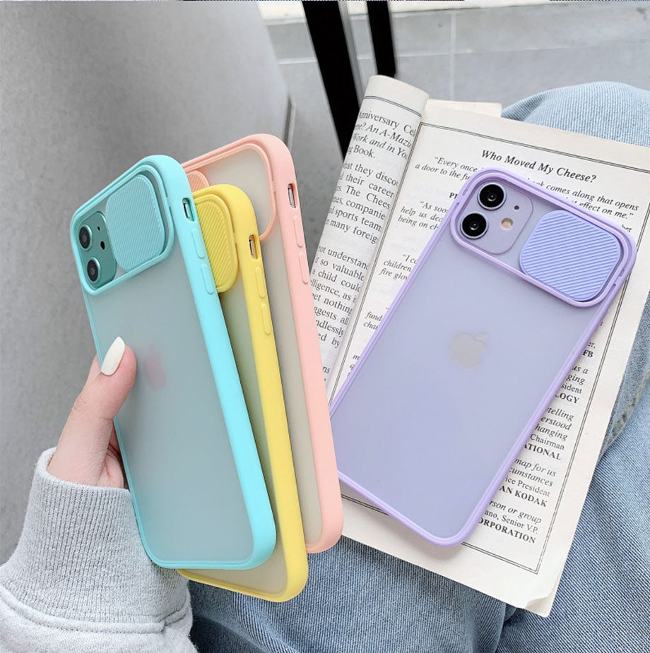 Camera Lens Protection Color Candy Soft Phone Case For iPhone