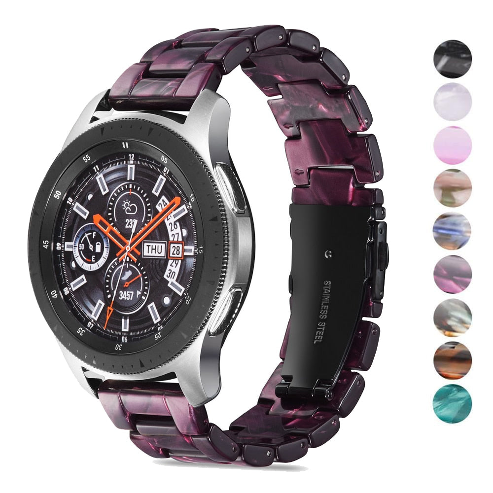 20mm 22mm Resin Watch Strap for Samsung Galaxy 46mm /Gear S3 /Huawei gt
