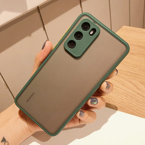 Camera Protection  Soft TPU Candy Color Phone Case For Huawei P40 Pro P30 P20 Mate 30 20 Pro Nova 7 6
