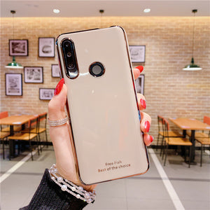 Luxury Plating Silicone Phone Case for Huawei honor 30 view 20 pro 20s 20 lite 10i 20i nova 5t 3i 3