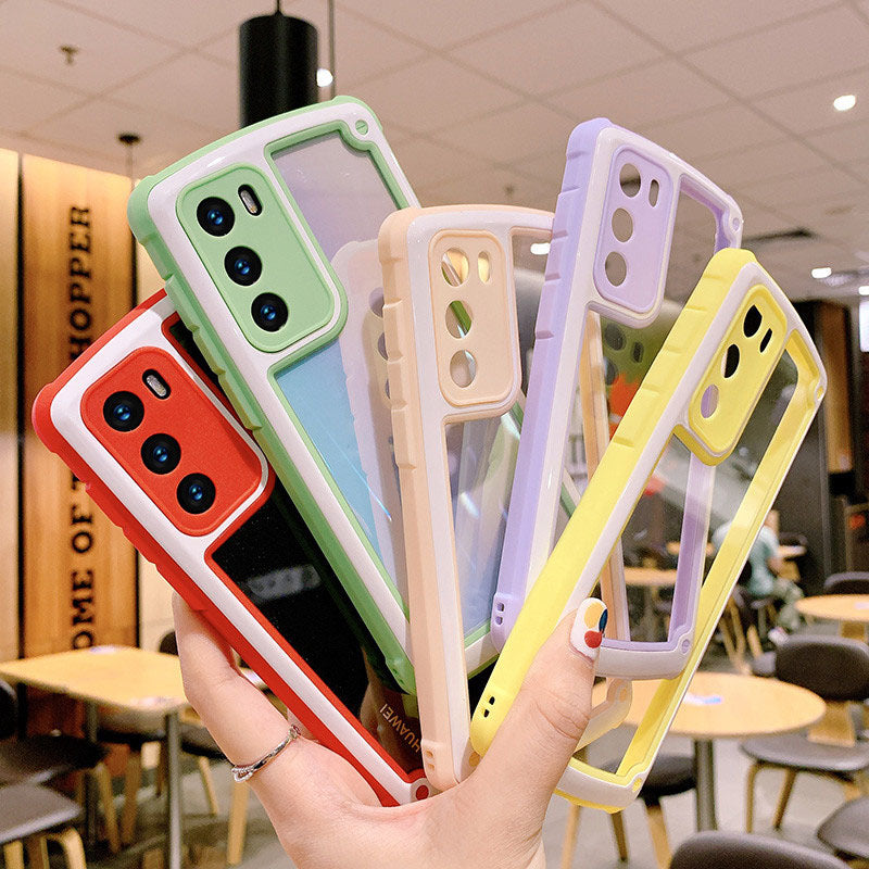 Candy Color Clear  Shockproof Bumper Silicone Phone Case For Huawei P30 Pro P20 Mate 20 30 Pro