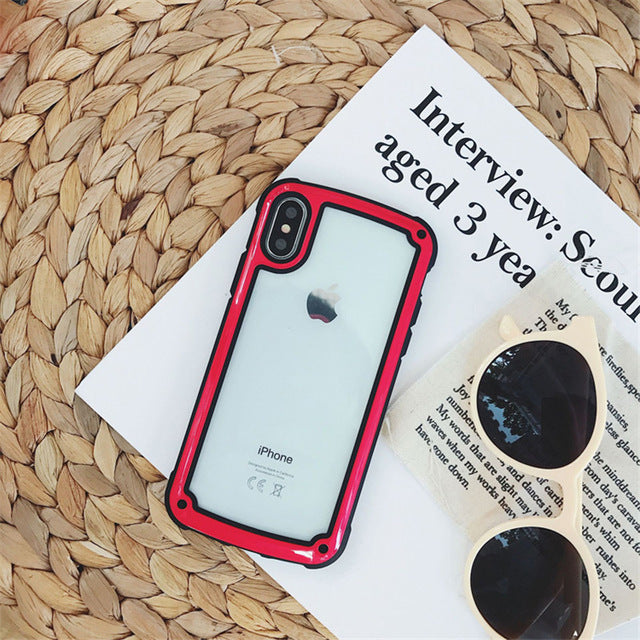 Shockproof Bumper Transparent Case For Huawei P30 Lite P20 PSmart Mate 20 30 Honor 10 Lite Y7 Pro Y9 prime