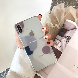 Soft TPU Art Abstract Retro Geometry Phone Case  For iPhone 11 Pro Max XR Xs Max X 7 7 Puls 6 6S 7 8 Puls