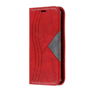 Retro Leather Magnetic Flip Wallet  Case for iPhone