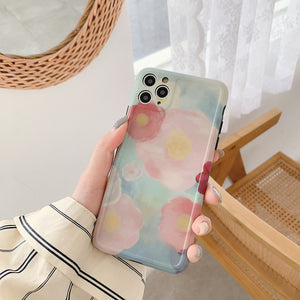 Oil Painting Rose Flower  Soft Phone Case for iPhone