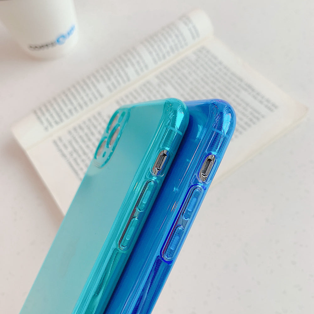 Neon Fluorescence Splice Phone Cases for iPhone