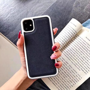 Luxury Retro PU Leather Mobile Phone Case For iPhone