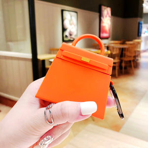 Silicone Classic Luxury Handbag  Shockproof Headphone Cases For Apple Air Pods 1 /2