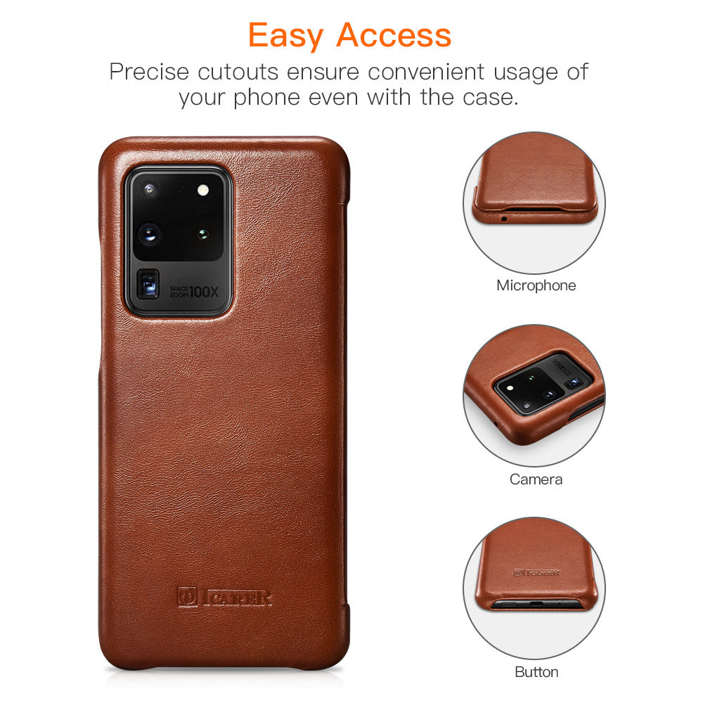 Genuine Leather Flip Case for Samsung Galaxy S20 5G/ S20 Ultra 5G /S10  /S10 Plus