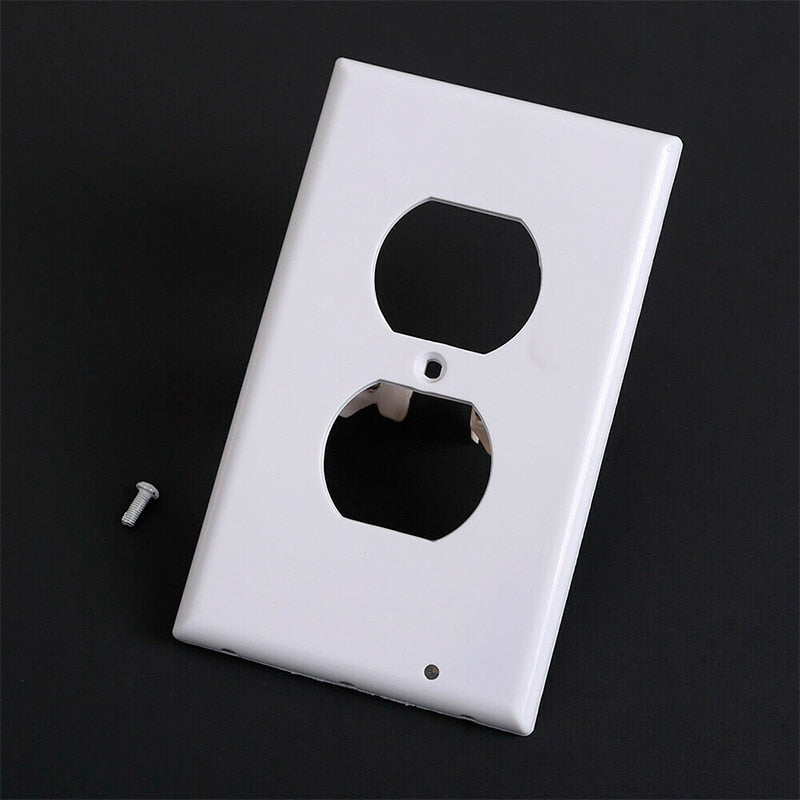 OUTLET WALL PLATE WITH LED NIGHT