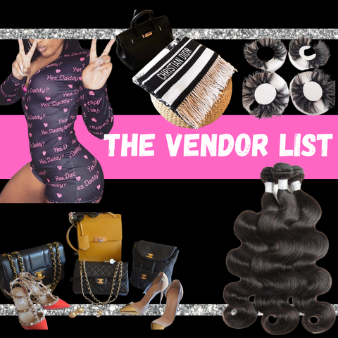 The Vendor List ( Over 150 Vendors) Instant Download