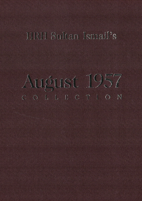 HRH Sultan Ismail's 1957 collection