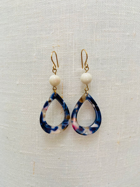 Romantic Resin & Swarovski Elements Earrings