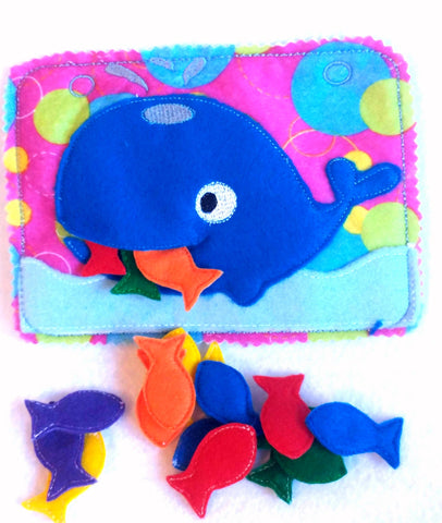 Count the fish quiet book page - QB137