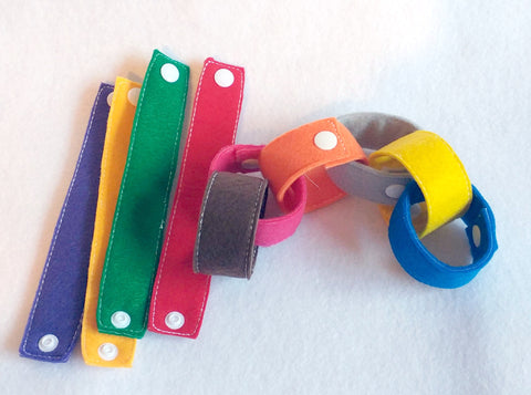 Felt snap chains set of 10  Great for busy bags