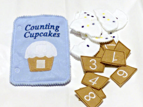 Cupcake counting quiet book page QB58