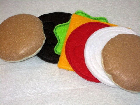 Felt Hamburger play food
