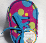 Felt Girls large circle Learn to Tie Your Shoe Great Educational learning toy