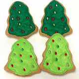 Play food Snowman and Christmas trees cookies  Set Of 8 Great stocking stuffers or christmas decorations we can add a loop to make ordaments