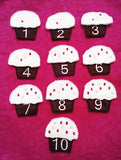 Cupcake Pink counting number game