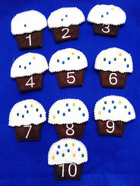 Cupcake blue counting number game