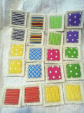 Deluxe Memory Concentration Game set includes 10 matches 20 cards