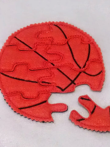 Basketball Felt Puzzle Wonderful for party favors and busy bags