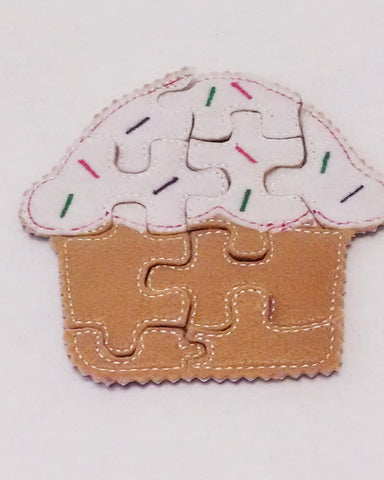 Cupcake Felt Puzzle Perfect for party favors and busy bags
