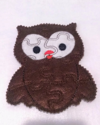 Brown Owl Felt Puzzle great for party favors and busy bags