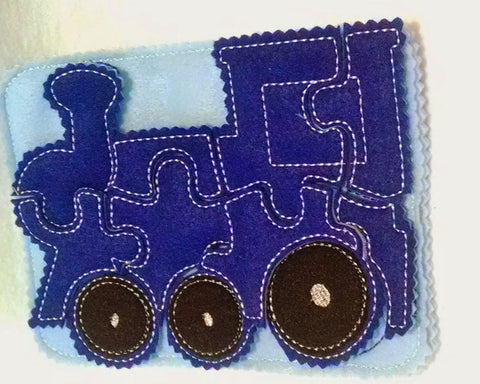 Blue Train felt quiet book page QB758