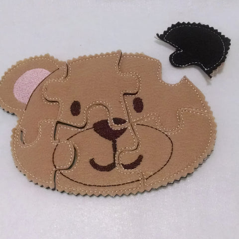 Bear Felt Puzzle Great for party favors and busy bags