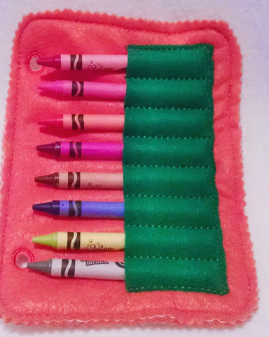 Crayon holder addon page for quiet book QB112
