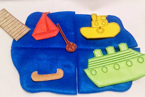 Boat felt flannel board set