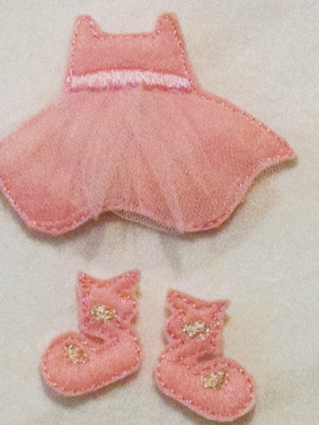 Ballerina felt outfit fits all of our felt dolls - #1527