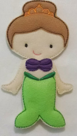 Ava Grace non paper doll plus Mermaid felt set - #1522