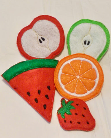 5 piece felt Play food fruit set