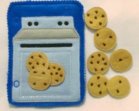 Blue Counting cookies baking set quiet book QB53