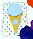 Quiet activity book addon page Ice cream cone learn your colors page educational game busy bags quiet book - QB57