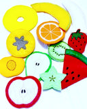 Vegetarian felt fruit Play food fruit 11 pieces pretend food Pretend food f kids play kitchen