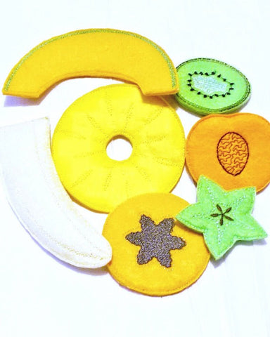 Vegetarian fruit Play food fruit set of 7 fruits pretend food Pretend food f kids play kitchen