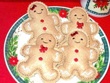 Gingerbread play food Cookies Set Of  2 dolls per for Christmas decorations or stocking stuffers