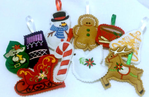 Felt Christmas ornaments Perfect stocking stuffers or school Christmas party gift